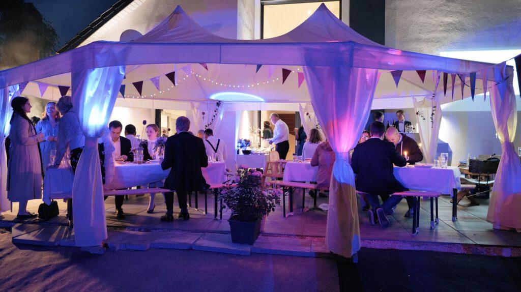 Einsatz der Lichtkoffer bei privaten Feiern